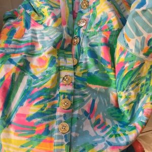 Lilly Pulitzer Tops - XL Lilly Pulitzer popover NWT sea salt & sun